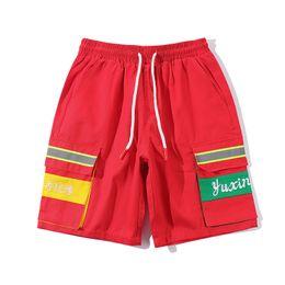 Herren-shorts rote hosen online-Mens Short Pants Fashion Sommer Strand Freizeithose Mens Designer Fashion Hip Hop Shorts Mens Red Black Shorts