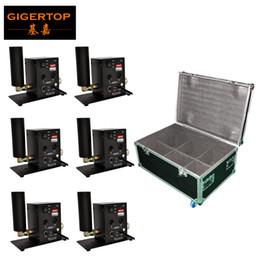 6in1 Flight Case Packing bico único Stage Co2 Jet Coluna Máquina Direção Jet Switchable 1M-5M Jet Altura DMX512 2CH Controle / MAUNAL Way de