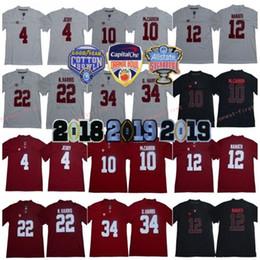 Campeonato de futebol on-line-2019 NCAA 13 Tua Tagovailoa 34 D. Harris 4 Jerry Jeudy 17 Waddle 30 Campeonato Wilson Orange Bowl Alabama Jersey de Futebol Crimson Tide