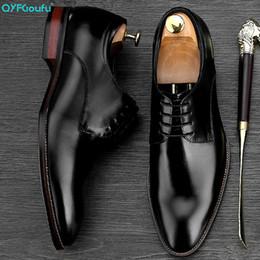 2019 мужская обувь QYFCIOUFU Новый Список Высокое Качество Натуральная Кожа Костюм Обувь Мужчины, Босоножки, Бизнес Мужская Обувь Мужской Вечернее Платье Дерби скидка мужская обувь