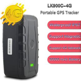 caja dvb t2 Rebajas Alta calidad 4G LTE GPS Car Tracker LK900C-4G 20000mAh batería grande 240 Días espera largo GPS de seguimiento de dispositivos Geo-cerca Localizador