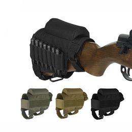 2020 caza de cartuchos Táctico Almohadilla Reposo Culata Pistola Bullet Stock Ammo Shell Revista Molle Pouch Cartucho Holder Bag Caza de tiro Bullet Bag caza de cartuchos baratos