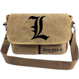 8b57dafddfd boys messenger bag canvas NZ - L Lawliet messenger bag Death note anime sling  case Cartoon
