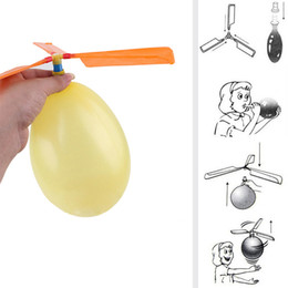 toy combines Promo Codes - 2019 Flying Balloon Helicopter Toy balloon airplane Toy children Toy self-combined Balloon Helicopter Child Birthday Xmas Party Bag Gift C32