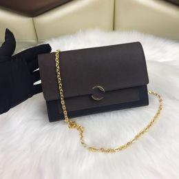 складывающиеся сумки оптом Скидка Женская многоцветная цепочка Coin Wallet 100% кожа изготовлена известными классическими дизайнерами. Встроенный зажим и молния сэндвич