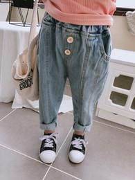 2019 12 meses ropa de marcas para niños 2019 Niños bebés Niños Jeans Niños Pantalones de mezclilla Pantalones casuales Niños Casual Girl Jeans 14932