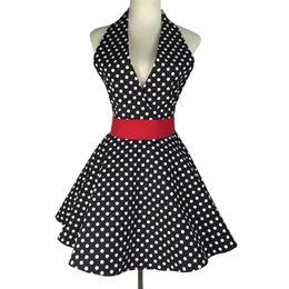 Сексуальная девушка подарки онлайн-Sexy Retro Фартук для кухни Готовит Пинафор платье девушка рукава Bib Клининговых 100% хлопковая ткань Фартуков для подарка Женщины