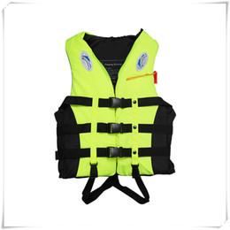 2019 chaquetas de natacion para adultos Chaleco salvavidas para natación Snorkeling Chaleco para adultos Salvavidas Canotaje Espuma Ayuda para la navegación Guardar Seguridad Natación Canotaje Navegación Chaleco y silbato chaquetas de natacion para adultos baratos