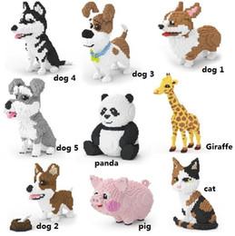 brinquedos para 13 anos meninos Desconto tijolos de brinquedo Blocos animais chineses, brinquedos, tesouros nacionais, os pandas gigantes, porcos rosa, brinquedos para adultos de inteligência das crianças.