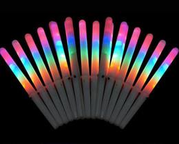 musikinstrumente elektronischen trommeln Rabatt 2019 neueste bunte led licht stick flash glow zuckerwatte stick blinkende kegel für gesang konzerte nacht partys dhl free