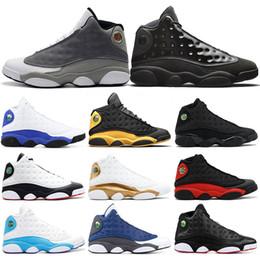 2019 качественные мужские высокие колпачки Высокое качество 13 Bred Chicago Flint Атмосфера Серые мужские ботинки баскетбола дешево качественные мужские высокие колпачки