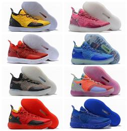 factory price 82f53 ece2c NIKE Nouveau KD 11 Hommes Chaussures De Basketball Still KD EYBL  Multi-Couleur Paranoid Cool Gris Hommes Baskets Kevin Durant 11s Designer  Marque Chaussures ...