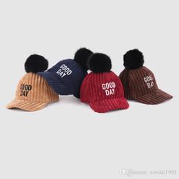 Cappelli di pelliccia genuini online-Cappellino da baseball invernale in pelliccia di volpe genuina per ragazzi e ragazze