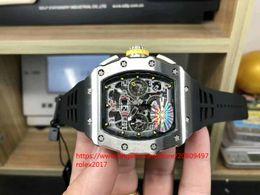 Relojes deportivos amarillos online-vender como Mens Basel World KV Fecha n Reloj para hombre ETA 7750 Forge acero Caja Botón amarillo Cronógrafo Automático Hombres Relojes deportivos