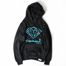 hip hop clothing diamond hoodie Promo Codes - 2017 new autumn Brand Diamond black Men Hip Hop Sweatshirts Pullover Hoodies male tracksuit Moleton fashion clothes S-XXL