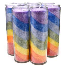 2019 kaktus kerzen großhandel Regenbogen Kerzen Bunte Meer Religiöse Aktivitäten Wachs Transparent Glaskerze DIY Verzieren Geburtstagsfeier Hochzeit Freies DHL 458