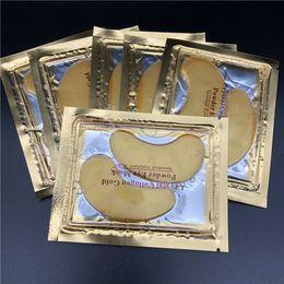 masques pour les yeux hydratants Promotion Nouveaux masques pour les yeux au cristal de collagène hydratants anti-poches anti-poches Masques pour les yeux masques anti-âge Masque pour les yeux au collagène en poudre dorée