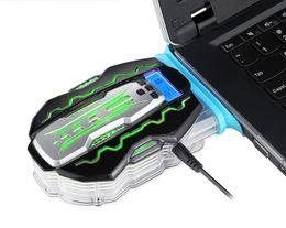 Estilo popular da rede, sucção do lado do radiador portátil do tipo de sucção do caderno do computador portátil, apropriado para todos os tipos de computadores de Fornecedores de dissipador de calor de prata