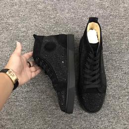 Unisexe Rouge Sneaker Designer Clouté Spikes Flats Chaussures De Luxe Bottines Casual Chaussures Taille US 5-12 w04 6sdf ? partir de fabricateur