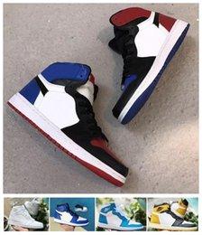 new product eedfa 5249f nike air jordan Rétro banni Toe Chicago Shadow 1 OG 1s High Game Royal Blue hommes  chaussures de basket femmes sport valentin baskets designer