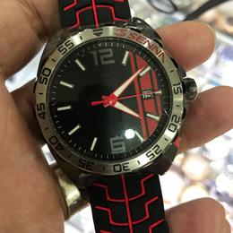 assistir obras Desconto Mens de alta qualidade preto e vermelho mostrador de borracha pulseira de relógio automático TAG vidro de safira com mostradores pequenos funciona auto liquidação relógios de pulso