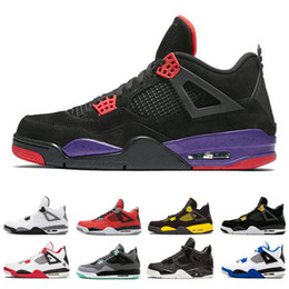 huge discount 4eb22 d82a6 Nike air jordan 4 4s Echte 4 4s Royalty Männer Basketball-Schuhe Turnschuhe  Einzelner Tag Tattoo Raptors Klassische Männer Alternative Motorsport White  ...
