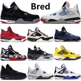 2019 Bred Jumpman 4s Herren Basketballschuhe 4 Cool Grey PALE CITRON China rot OREO Weißzement ALTERNATE Mode Männer Sport Turnschuhe 7 12