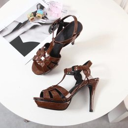 dcde28fcd06198 Sandalen - neue Damenschuhe aus Frühjahr 2019 aus Keramik mit hochhackigen  Sandalen für Damen mit Laufsohlen schuhe keramik Angebote