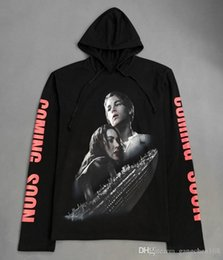 Titanische kleidung online-Neue Kpop Kleidung Urban Brand-Kleidung Titanic Vetements Schwarz Oversized Hoodie Pullover Hoodies Kanye West Hip Hop Hoodie