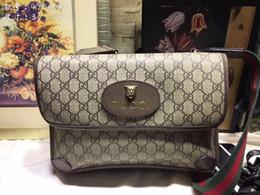neue stil seitentaschen Rabatt New Bag Classic Material mit braunem Leder, Retro Style Design, gut organisiert, Flip Buckle Side