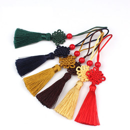 2019 lembranças chinesas por atacado Bookmark Tassel Small Chinese Knot China Style Souvenir Ruler Pendant Tassel 9 Colors Cultural and Creative Gifts 280