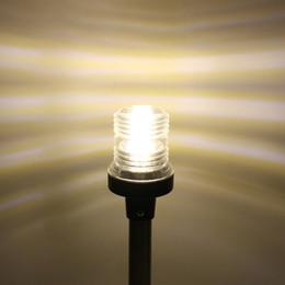 lampe d'ancrage Promotion 25 pouces vers le bas Rabattre Marine Bateau LED Feux de navigation 12-24 Bateau Yacht ancre de poupe Lumière LED Voile Lampe