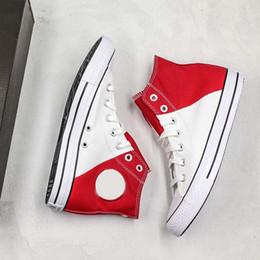 Estrela dos namorados on-line-New Valentine Branco Vermelho Costura Clássico Sapatos de Lona de Alta-top Convas Chuck Estrela Saltos Eletro-bordados Designer Casual Sapato