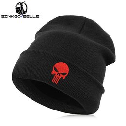 Beanie Hat Skullie Cap Slouchy Winter Embroidery Cool Punk Men Women Boy  Girl Teens Street Dance Skull Skelton Black White Gray 348a21c70a37