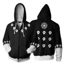 cosplay hoodies zipped Promo Codes - Fashion-3D Zip Up Hoodie Men Anime Naruto 3D Print Cosplay Sweatshirt Long Sleeve Hoody Streetwear Zipper Jacket Hipster