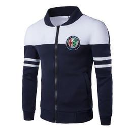 2020 chaqueta de beisbol para hombre xxl alfa romeo Moda Hombres impresión chaqueta diseño de costura masculinos chaquetas de béisbol New capa de los hombres sudaderas con capucha de vestir exteriores del otoño del resorte rebajas chaqueta de beisbol para hombre xxl
