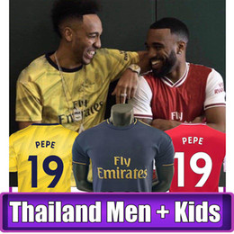camiseta de fútbol de tailandia al por mayor Rebajas TOP camiseta de fútbol de Tailandia 19 20 AUBAMEYANG LACAZETTE 2019 2020 Camiseta XHAKA OZIL camiseta del equipo de fútbol uniformes maillot de foot tercero