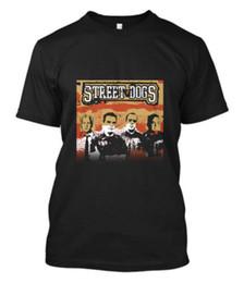 Логотипы панк-групп онлайн-Ограниченные уличные собаки панк-рок группа мужская логотип черная футболка S-до 5XL прохладный повседневная гордость Майка мужчины унисекс