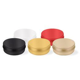 Boîte en aluminium exquise de 60ml pour la feuille de thé, cosmétiques, boîte de empaquetage de crème de crème de main de pommade ? partir de fabricateur