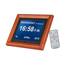 1280 * 800 HD большой светодиодный экран Цифровая фоторамка настольный электронный альбом деревянная оправа поддержка музыки/видео / фото полная функция от Поставщики экранный видеоплеер