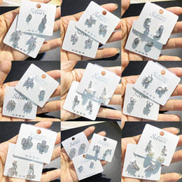 Koreanische ohrringe mischen online-Strass ohrstecker New Mix Silber ohrringe Diamant bling bling glanz stern blume herz bowknot Korean Fashion S925 Schmuck freies Fedex