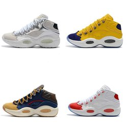93933a82cfb Hot sale designer shoes Allen Iverson Question Mid Q1 Basketball Shoes  Answer 1s Zoom mens running Athletic shoes luxury Elite Sport Sneaker