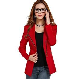 Chaquetas de puffs online-Mujeres Blazer Cremallera Traje Puffs Manga Feminino Casual Ruffles Slim Jacket Abrigos S-XXL