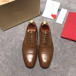 2019 new European and american style business leather shoes new  international brands fashion and contracted men shoes 77edff453706