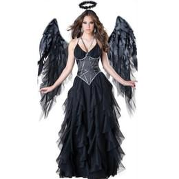 Argentina Vestidos maxi vestidos de fiesta mujer Halloween Dark Angels Vampire Devils Ghost festival bruja disfraz vestidos de festa cosplay supplier angel women costumes Suministro
