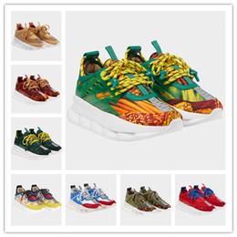2019 cadeias ao ar livre Top Quality Ver Reação Em Cadeia De Luxo Sapatos De Grife Mens Womens 2019 New Medusa Sneakers Sapatos de Reação Ao Ar Livre Sapatos Casuais cadeias ao ar livre barato