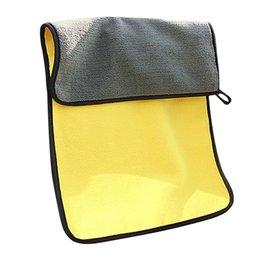 Limpieza de muebles de microfibra online-2X Grueso de felpa Paños de limpieza de coches Microfibra Pulido Muebles de cocina Toallas de limpieza Terciopelo bidimensional dimensional Lavado de toallas