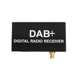 adaptador de antena estéreo de carro Desconto O rádio de carro externo do DAB adiciona o receptor da caixa de rádio de DAB + Digital para nosso dvd do carro do andróide da empresa coube somente Europa