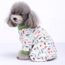 Sudaderas con capucha para perros pequeños online-Lindo Impreso Ropa para Mascotas Pequeño Perro mono Pijamas de Chihuahua Sudadera Con Capucha Para Perros Gatos Súper Suave Cachorro Caliente Perro Traje