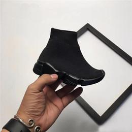 Teenager sneakers online-Balenciaga Kinder Speed Runner Socke Schuhe für Jungen Socken Schuhe Damen Designer Stiefel Kind Trainer Teenager Läufer Turnschuhe Laufen Chaussures